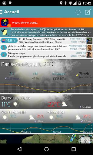 Infoclimat - météo temps réel
