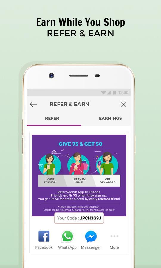 Screenshots of Voonik Online Shopping App for iPhone