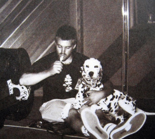 Bradley Nowell and a dalmatian
