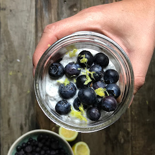 Blueberry-Lemon Chia Pudding.