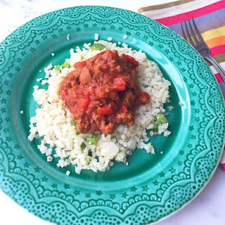 Quick Meat Sauce with Cauliflower Rice