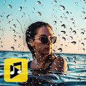 Rain Photo Effect Video Maker with Music icon