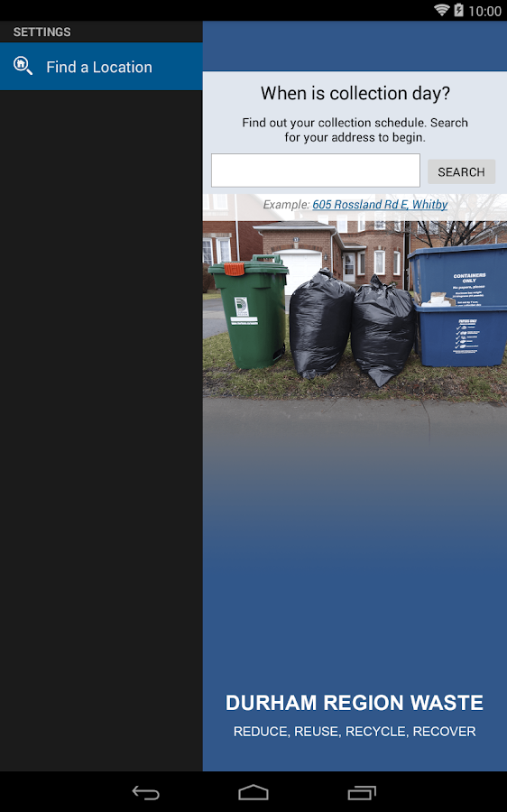 Durham Region Waste- screenshot