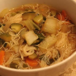 Asian Rice Noodle Soup.