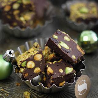 Five Minute Cranberry Pistachio Fudge