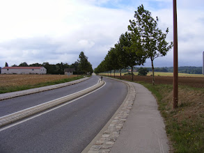 Photo: The two mile walk from the train station to the town of Montfort-l'Amaury is along this quiet road which originated in Roman times.