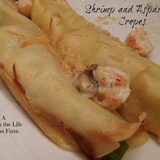 Shrimp and Asparagus Crepes for #SundaySupper.