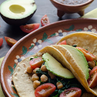 Chickpea and Spinach Tacos