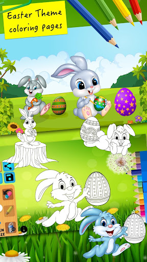 Easter bunny egg coloring book 1.06 screenshots 1