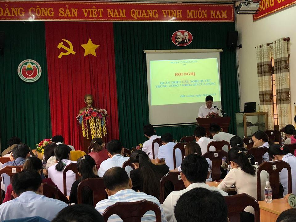 Hội nghị học tập, quán triệt, triển khai thực hiện Nghị quyết Hội nghị Trung ương 7 khóa XII