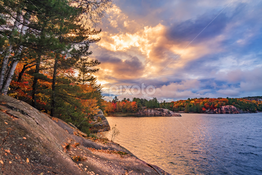 7692c1bbb04b5 Killarney Autumn Evening by Tracy Munson - Landscapes Weather ( clouds,  fall colors, killarney