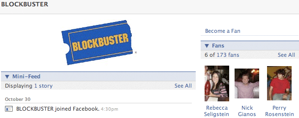 Facebook Page Blockbuster