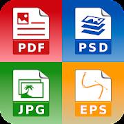 Photo & Image converter: jpg pdf eps psd png bmp..