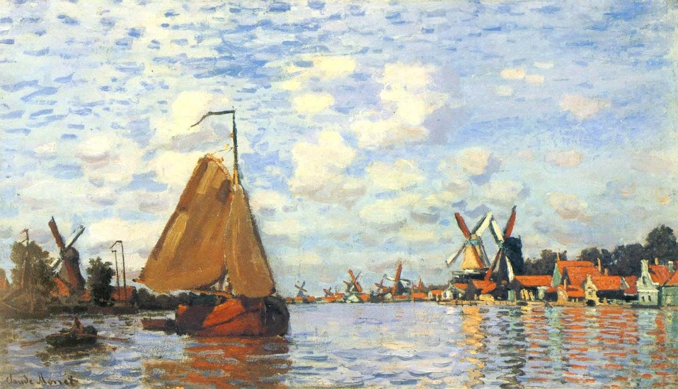The Zaan at Zaandam by claude Monet 1871