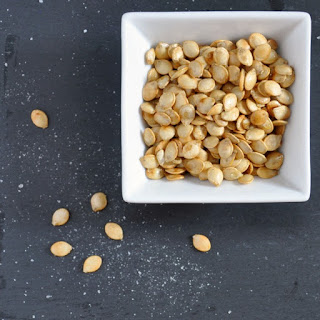 Crunchy Salty Roasted Delicata Squash Seeds