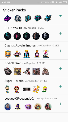 WAStickerApps - Game Stickers for Whats-app 1.0 screenshots 2