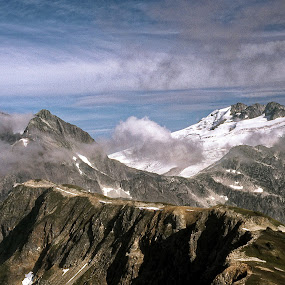 Grandeur of Creation, Northwest Cascades by Rev Marc Baisden - Landscapes Mountains & Hills ( climbing, adventure, mountains, cascades, travel, hiking )