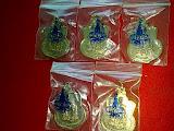เหรียญ ในหลวงนั่งบัลลังค์ ฉลองครองราชย์50ปี พ.ศ.2539 เนื้ออัลปาก้า  ซองเดิมๆ จำนวน 5 เหรียญ