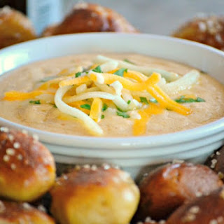 Beer Cheese Dip and Homemade Pretzel Bites