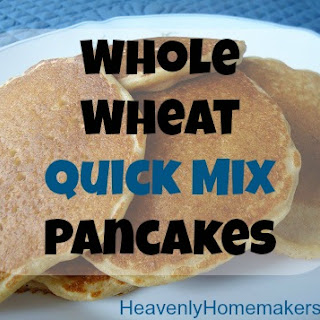 Whole Wheat Quick Mix Pancakes {Sneak peek into our new Oh, For Real! book}