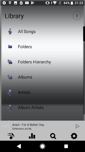 Screenshot for Poweramp skin neon v3 in United States Play Store