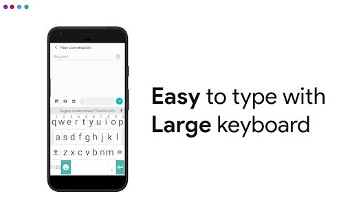 Big Keyboard & Notifications - Senior Home Screen 3.1.62 screenshots 1