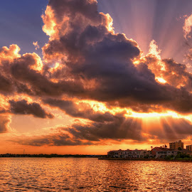Dunedin Causeway, Florida. by Edward Allen - Landscapes Cloud Formations (  )