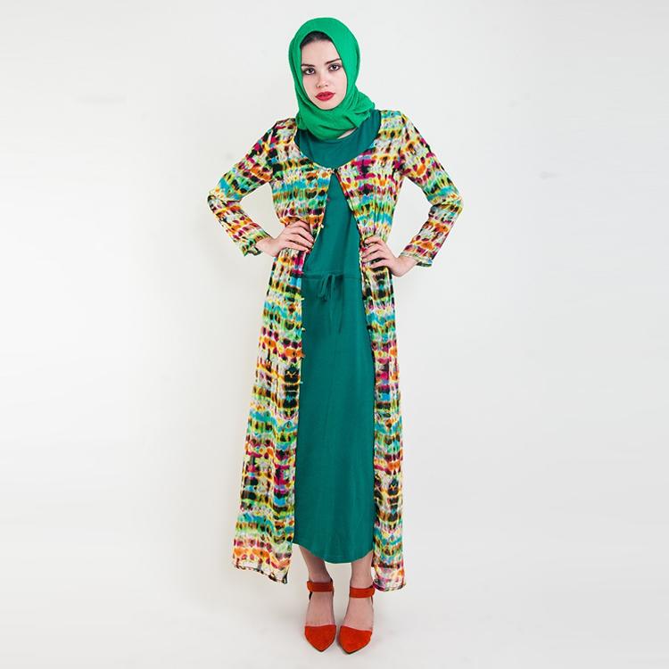 Wanderlust Tie Dye Overcoat by Hijab Le Modesty