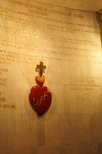Photo: This is the tabernacle. The Sacred Heart of Jesus is huge in Ecuador, especially since President Moreno had consecrated the country to the Sacred Heart.