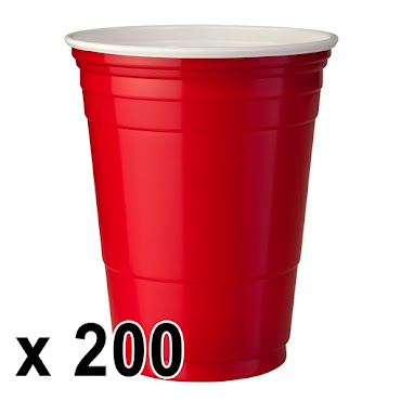 200 kpl. Red Cups Mukeja (473ml./16 Oz.)