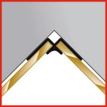 Profilé d'angle intérieur pour panneau mural Decocolor