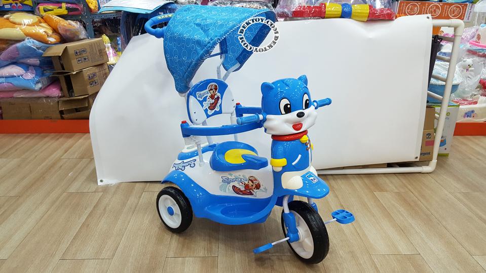 รถสามล้อเด็กหน้าแมวก้นใหญ่ สีฟ้า BCQB0002ML-3.png