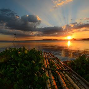 Taal lake Sunset by Jeremy Mendoza - Landscapes Sunsets & Sunrises ( nature, sunset, taal_lake, landscape, philippines, , #GARYFONGDRAMATICLIGHT, #WTFBOBDAVIS )