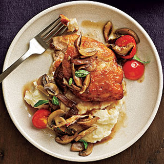 Chicken and Mushrooms with Marsala Wine Sauce.