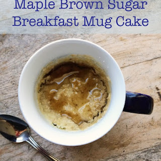 Maple Brown Sugar Oatmeal Breakfast Mug Cake