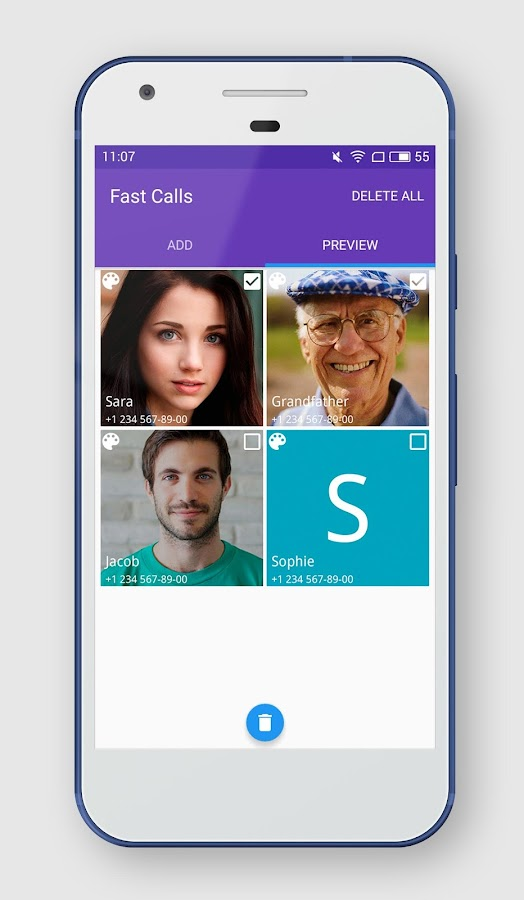 Fast Calls Widget- screenshot