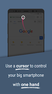 Reachability Cursor: one-handed mode mouse pointer Screenshot