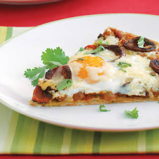 Fried Egg and Pinto Bean Pizza.