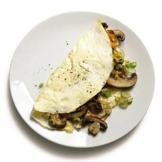 Eggwhite Omelette with Mushroom.