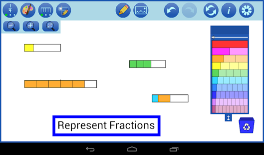 Fraction Strips by mathies- screenshot thumbnail