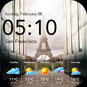 Weather & Clock Widget Free