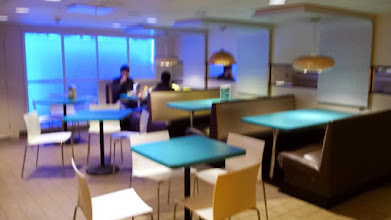 Photo: common sitting/eating area near common kitchen