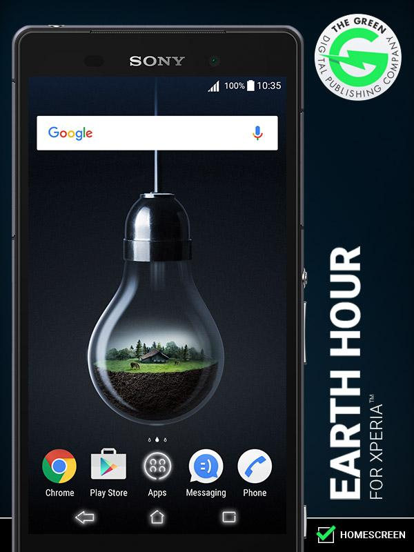 Earth Hour for Xperia™- screenshot