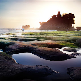 Bali coast by Andrey Tolstikov - Landscapes Travel ( bali coast sea tide sunset )