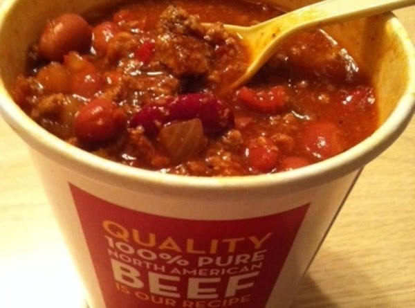 Indulging in my addiction! The real Wendy's Chili for dinner tonight!