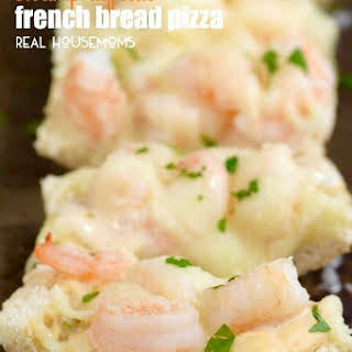 Shrimp Alfredo French Bread Pizza.