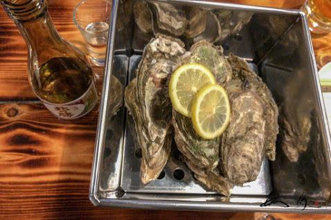 蒸し牡蠣「ガンガン焼き」