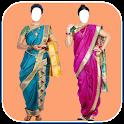 Women Trending Marathi Saree Photo Montage icon