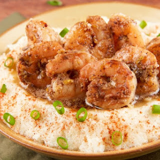 Brown Butter Shrimp with smoked Gouda grits