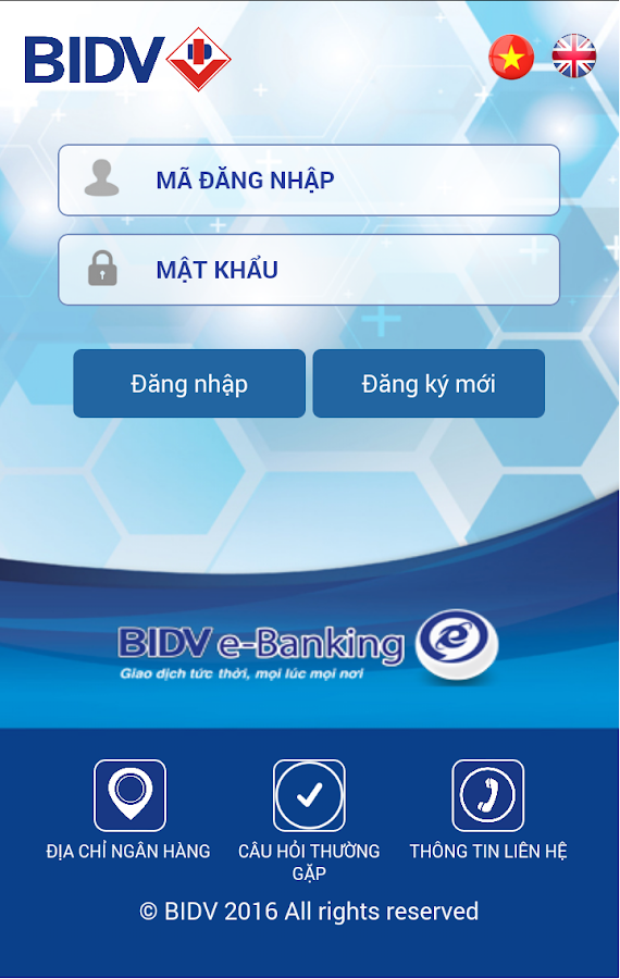 BIDV Online- screenshot